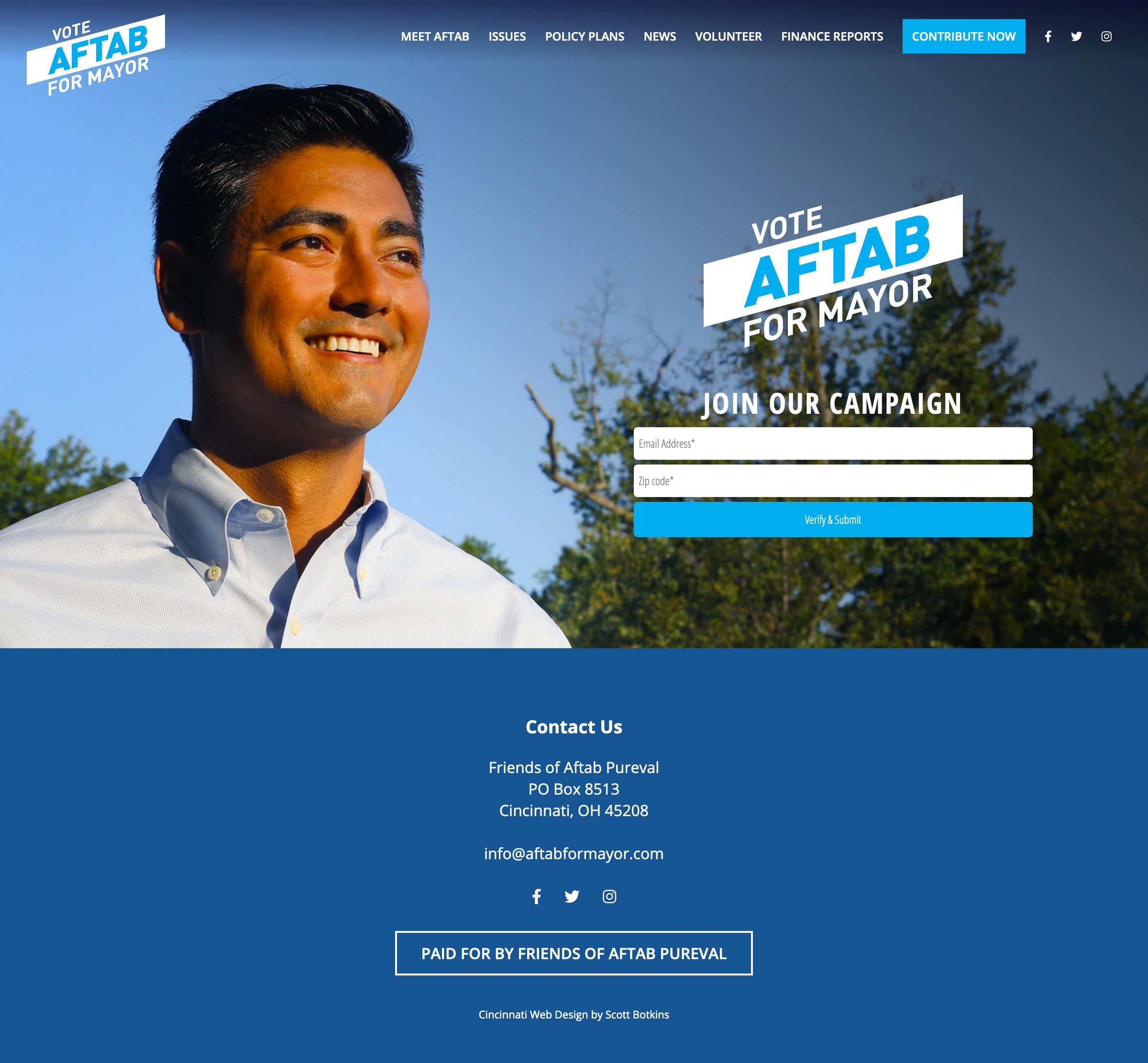 Aftab Pureval For Mayor of Cincinnati