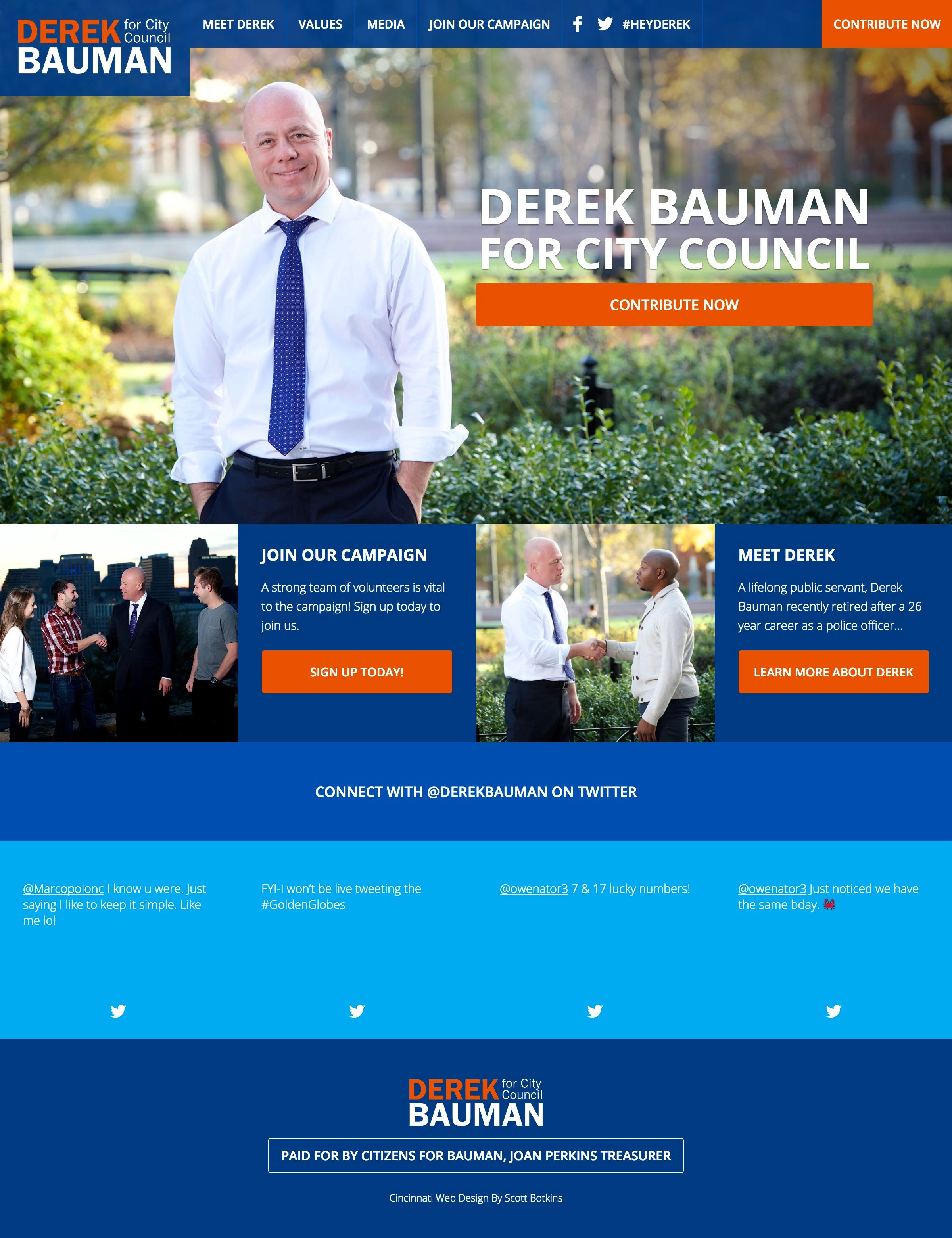 Derek Bauman For Cincinnati Council