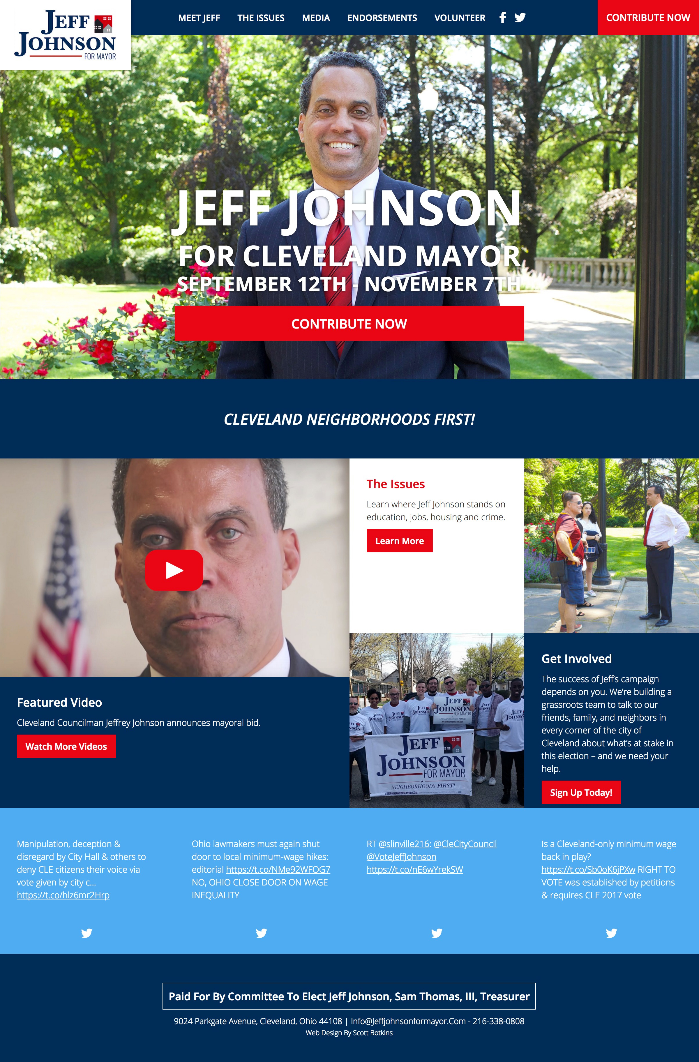 Jeff Johnson For Mayor of Cleveland