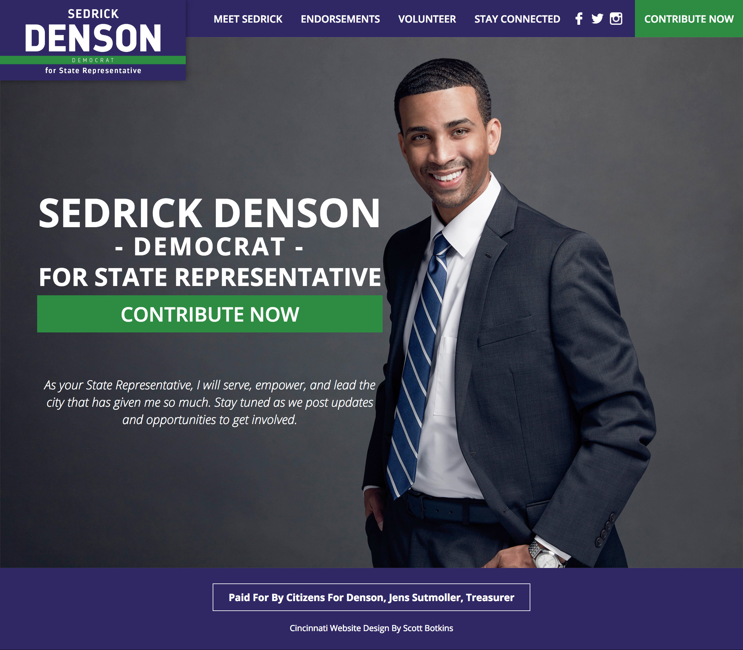 Sedrick Denson For State Representative