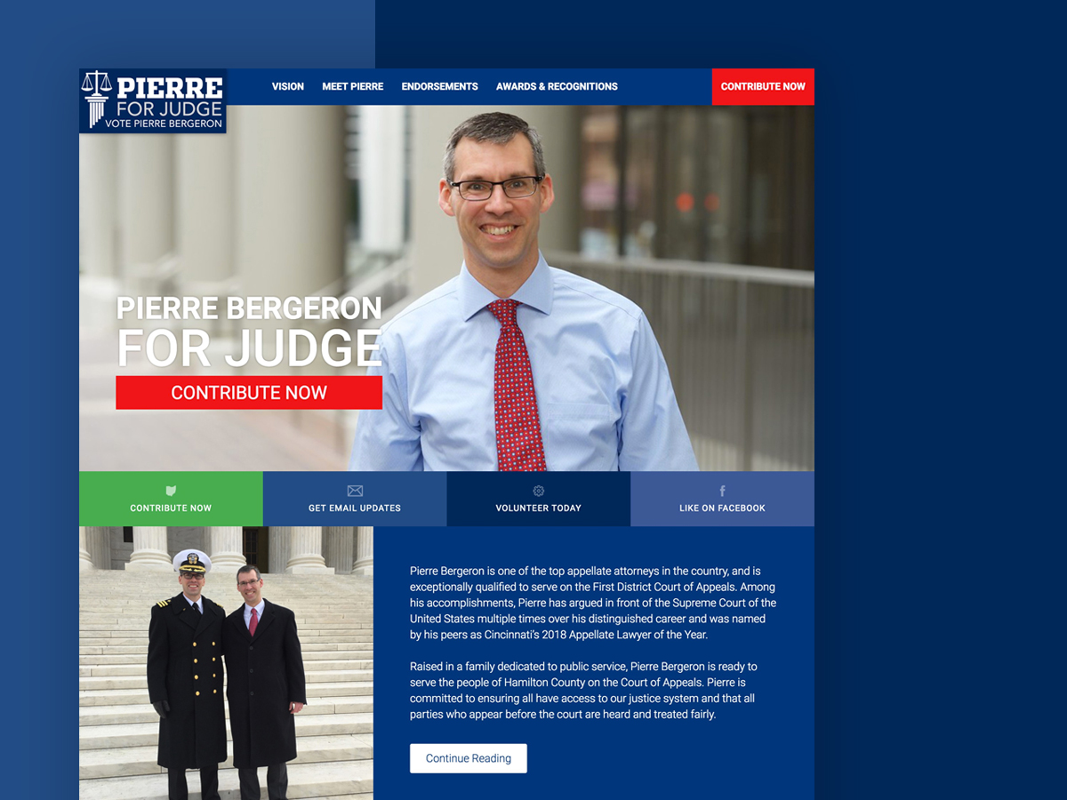 Pierre Bergeron For Judge