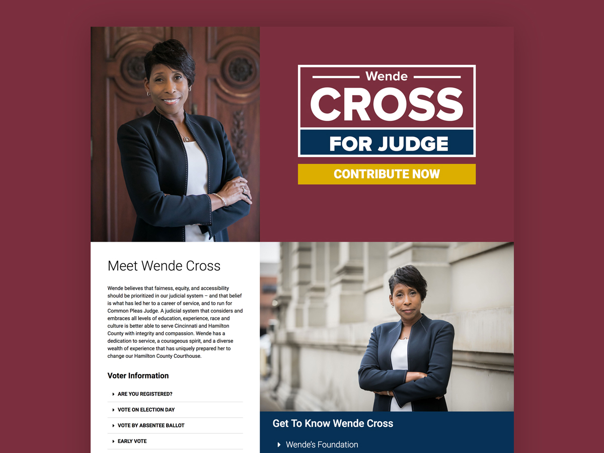 Wende Cross For Judge